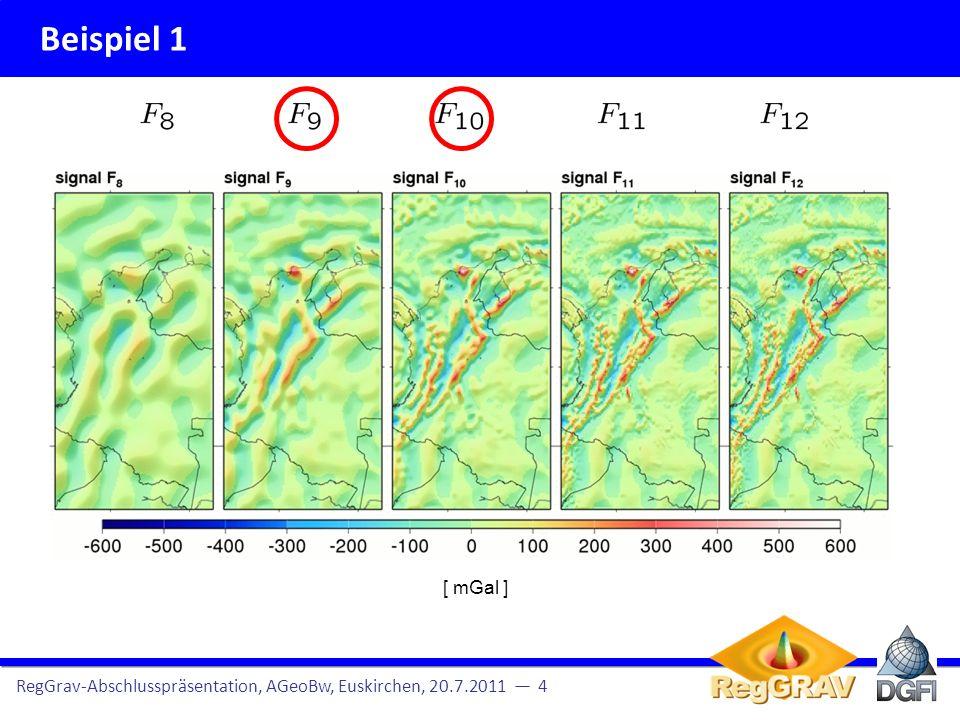 Beispiel 1 [ mGal ] RegGrav-Abschlusspräsentation, AGeoBw, Euskirchen, 20.7.2011 — 4
